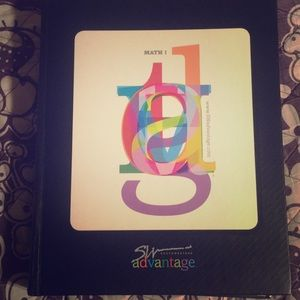 Selling a math book math 1 and 2 brand new.